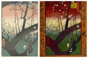 歌川広重の浮世絵とゴッホによる模写