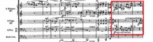 アルプス交響曲「岩壁の動機」譜例