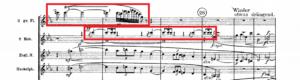 アルプス交響曲譜例