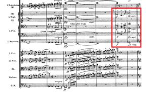 アルプス交響曲「山の動機」譜例