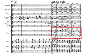 アルプス交響曲「頂上の動機」譜例