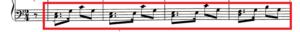 譜例「ハバネラのリズム」