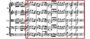ベートーヴェン「第九」第1楽章第1主題譜例