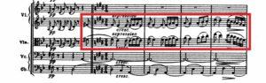 ベートーヴェン「第九」第3楽章第2主題譜例