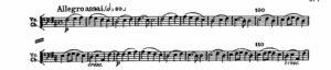 ベートーヴェン「第九」第4楽章第1主題譜例