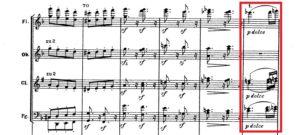 ベートーヴェン「第九」第2主題譜例