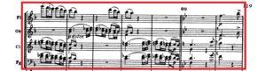 ベートーヴェン「第九」第1楽章第2主題譜例
