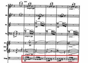 ベートーヴェン「第九」ティンパニ譜例