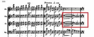 ベートーヴェン「第九」第2楽章譜例