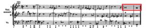 二全音符の譜例
