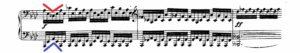 ベートーヴェン「熱情」第1楽章第3主題譜例