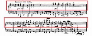 ベートーヴェン「熱情」第2楽章主題譜例