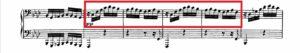 ベートーヴェン「熱情」第3楽章第1主題譜例