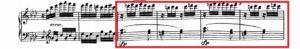 ベートーヴェン「熱情」第3楽章第2主題譜例