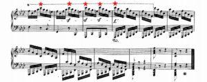 ベートーヴェン「熱情」第3楽章最高音域箇所譜例
