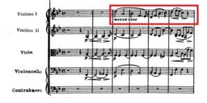 ベートーヴェン「第九」第3楽章第1主題譜例