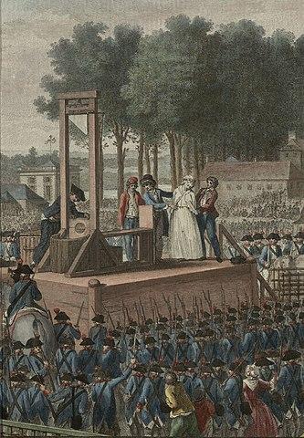 マリー・アントワネットのギロチン処刑