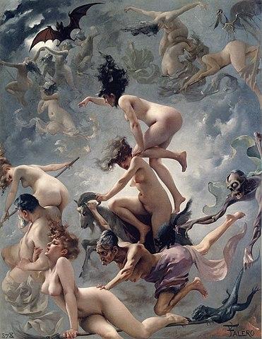 サバトに赴く魔女たち
