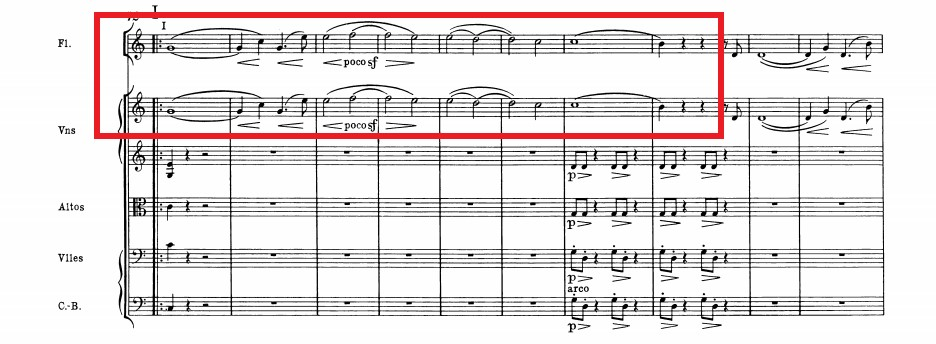 幻想交響曲「イデー・フィクス」譜例