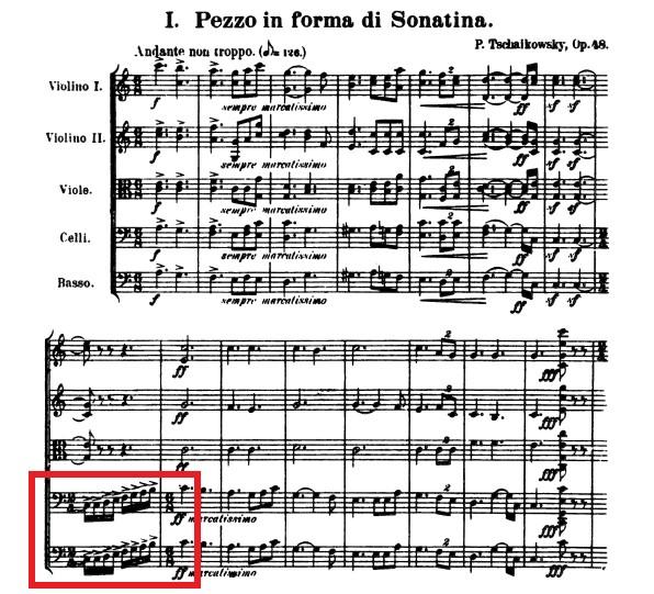 弦楽セレナーデ譜例