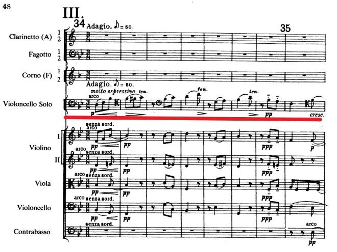 エルガーチェロ協奏曲第3楽章